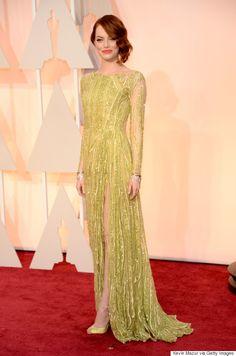 Emma Stones in Elie Saab @ Oscars 2015