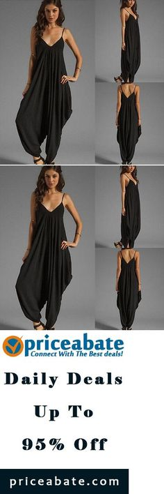 #priceabatedeals NEW Women's V-neck All In One Summer Beach Harem Jumpsuit Romper Playsuit Pants - Buy This Item Now For Only: $10.99