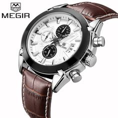 MEGIR Luxury Brand Military Watches Men Quartz  Chronograph 6 Hands Leather Clock Man Sports Army Wrist Watch Relogios Masculino     Tag a friend who would love this!     FREE Shipping Worldwide     Get it here ---> https://bestonlinewatches.com/megir-luxury-brand-military-watches-men-quartz-chronograph-6-hands-leather-clock-man-sports-army-wrist-watch-relogios-masculino/