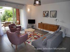 Le salon de l'appartement Jardin d'Aiguelongue à Montpellier