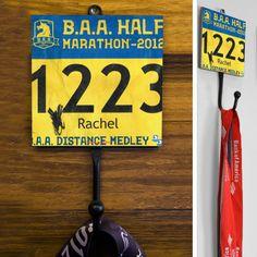 Your Race Bib Medal Hook | Marathon Medal Hooks | Marathon Gifts