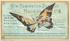 Sweetly Scrapped: *Free* Vintage Image, Butterfly Ad Card,