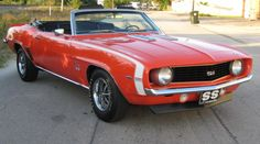 1969 CHEVROLET CAMARO SS CONVERTIBLE - 64261 Chevy Muscle Cars, Best Muscle Cars, Camaro Ss Convertible, Chevy Models, Pretty Cars, Pony Car, Diesel Trucks, Bmw Cars, Chevrolet Camaro