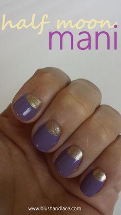 gel half moon manicure - Google Search