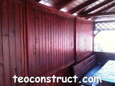 Foisoare din lemn dreptunghiulare acoperite cu sindrila bituminoasa  10 Garage Doors, Outdoor Decor, Home Decor, Italia, Decoration Home, Room Decor, Home Interior Design, Carriage Doors, Home Decoration