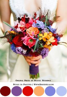 Colorful Bouquets: 15 Most Colorful Wedding Bouquets So Far