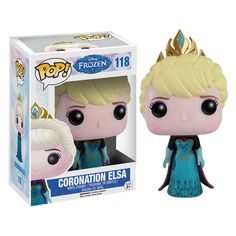 Here we have Elsa in Funko POP Vinyl form. Specifically this is Elsa in her coronation attire. The Coronation Elsa POP Vinyl looks fantastic and fans of Disney's animated film Frozen are sure to love Disney Pop, Frozen Disney, Elsa Frozen, Frozen Pop, Film Frozen, Frozen Vinyl, Frozen 2013, Disney Stuff, Figurine Disney