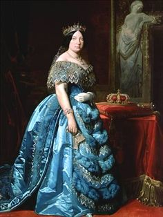 Geni - María Isabel II Luisa of Bourbon-Two Sicilies, Queen of Spain Paris; paternal cousin 4 X removed Historical Costume, Historical Clothing, Queen Isabella Of Spain, Fernando Vii, Spanish Royalty, Queen Photos, Isabel Ii, Anne Boleyn, Female Photographers