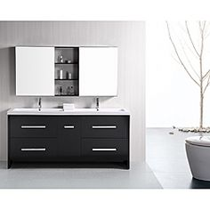 Wyndham Collection Axa 72'' Double Bathroom Vanity Set With Mirror Awesome 72 Inch Bathroom Vanity Double Sink Review