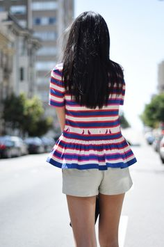 Tweetin Stripes - Marc by Marc Jacobs peplum top