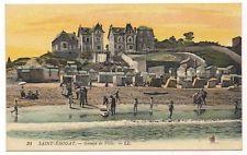 OLD VINTAGE FRENCH PICTURE POSTCARD SAINT-ENOGAT BEACH OCEAN VILLAS SCENE FRANCE