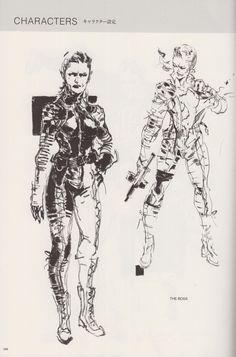 Yoji Shinkawa - The Boss from Metal Gear Solid 3 Metal Gear Solid Quiet, Metal Gear Solid Series, Character Concept, Character Art, Metal Gear Survive, Metal Gear Games, Metal Gear Rising, Gear Art, Figure Drawing Reference