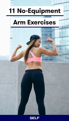 While many upper-body moves involve gym mainstays like dumbbells and barbells, arm exercises without Strength Workout At Home, Upper Body Strength Workout, Upper Body Hiit Workouts, Upper Body Workout For Women, Arm Workouts At Home, Hiit Workout At Home, Upper Arm Exercises, Best Home Exercises, Weight Exercises