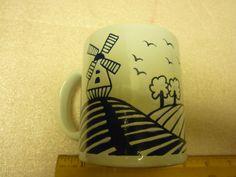 Rare Vintage Waechtersbach Windmill Ceramic Coffee Mug Made in West Germany