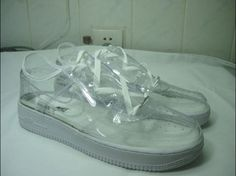 Times See Through Plastic Fashion Trend Went Too Far African Traditional Wear, Shoe Sites, Nike Af1, Unique Shoes, Air Force Ones, Aesthetic Fashion, See Through, Designer Shoes, Photos