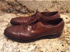9957d64e8fd ET WRIGHT MENS LEATHER OXFORD WINGTIP DRESS SHOES SIZE 11.5 AAABROWN MADE  IN USA  fashion  clothing  shoes  accessories  mensshoes  dressshoes (ebay  link)