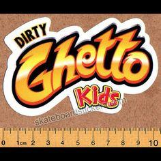 DGK - Flavor - Dirty Ghetto Kids Skateboard Sticker - SkateboardStickers.com
