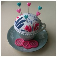 Another teacup pin cushion how to.