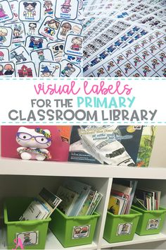 Use these labels to organize your book bins and books in your classroom library. Your library will be easy to set up and maintain with the visual cards & stickers. Perfect for kindergarten, first grade, and 2nd grade, and bilingual classrooms. All labels available in English & Spanish.