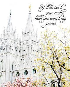 A Pocket full of LDS prints: Freebie- If this isn't your castle, then you aren't…