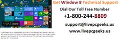Get #Windows 8 #Technical #Support : Call us +1-800-244-8809