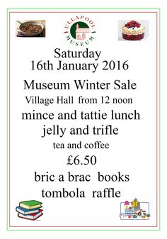 Come along,have a nice lunch,find some good books and maybe a treasure from the bric a brac!