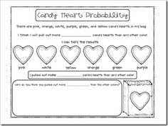 Candy heart probability sheet.  Definitely doing this on valentines day!