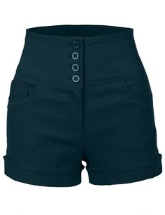 Short Elegantes, Nautical Shorts, Sailor Shorts, Female Shorts, Stretch Shorts, Shorts With Pockets, Hot Pants, High Waisted Shorts, Casual Looks