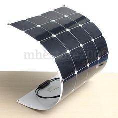 100W/200W/300W/400W/500W/1KW Semi Flexible Mono Solar Panel Battery System