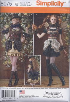 Simplicity 8075 Misses Steampunk Fantasy Cos Play by ReduxPatterns