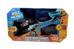 Young boys will love competing with this Laser Combat Air vs. Land Battle Machines by Jada that has an infra-red laser gun turret with 360 degree rotation, and an attack helicopter with 3 channel, gyro stabilization. And, of course, exploding sound effects!