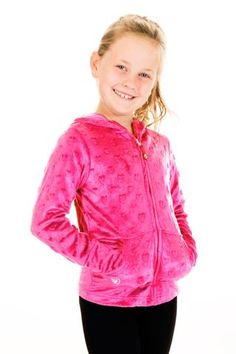 CUDDLE BUBBLE MINKY HEARTS HOODIE - FUCHSIA Tie Dyed, Hand Warmers, Hooded Jacket, Bubbles, Girl Outfits, Leather Jacket, Hoodies, Cuddle, Sleeves