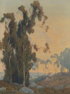 """California Landscape. Watercolor on paper. 24""""x18"""" - Marion Kavanaugh Wachtel"""