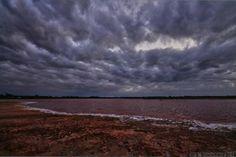 """The Storm on the Way"" - Last week at Lake Lambert Merbein Thanks to Steven B #Mildura"