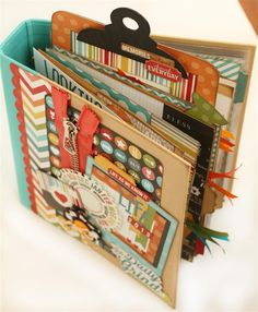 this blog is filled with really cute mini album ideas