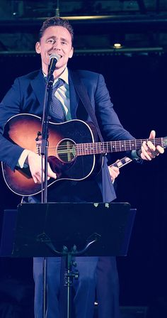 "Tom can play the guitar, of course(≧∇≦)(""I Saw The Light"") Tom Hiddleston is all you need — Stop it Hiddles"