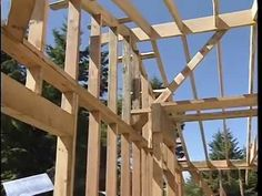 Lookouts to Frame a Roof - YouTube