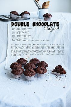Les platico como me quedaron... Double chocolate muffins by Call me cupcake, via Flickr