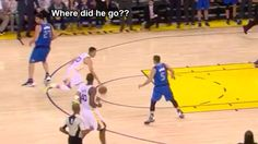 Defending Steph Curry is very hard. Stephen Curry went behind-the-back and turned Zaza Pachulia into a statue. - #StephenCurry