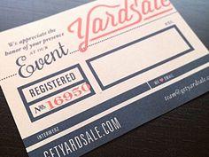 cute invite & drink ticket design.