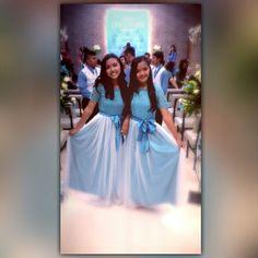 Blue dress for graduation party