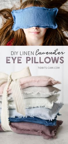 diy pillows Learn how to make Linen Lavender Eye Pillows. Close your eyes, breath it in, and enjoy the relaxing benefits of lavender! Great for eye or head tension. Warm them up or cool them in the freezer. Filled with flax seed and lavender buds. Sewing Hacks, Sewing Tutorials, Sewing Crafts, Sewing Tips, Sewing Ideas, Sewing Patterns Free, Free Sewing, Sewing Projects For Beginners, Diy Projects