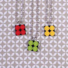 Lego necklaces... might make a fun craft!