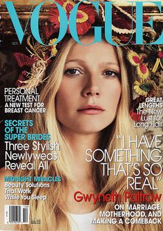 rafia flowers and gwyneth. one of my favorite vogue covers.