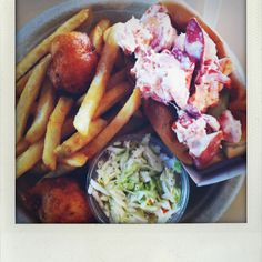 Lobster salad roll plate from Capt. Frosty's in Dennis, MA. Yum!