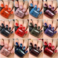 OPI Scotland Collection - Fall 2019 - The Feminine Files Nagellack opi OPI Scotland Collection - Fall 2019 Opi Gel Polish, Opi Gel Nails, Fall Nail Polish, Opi Nail Colors, Toe Nail Color, Gel Polish Colors, Fall Nails, Acrylic Nails, Nail Design Spring