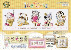 Ghiaccio gatti  Cross stitch pattern di GeniesCrossstitch su Etsy