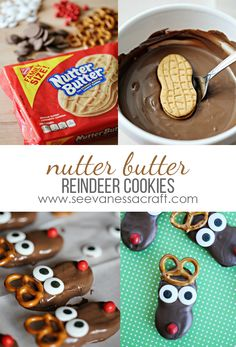 Nutter Butter Christmas Reindeer Cookies #ad #NuttyForTheHolidays Christmas Reindeer Cookies, Christmas Deserts, Christmas Candy, Holiday Desserts, Christmas Goodies, Holiday Baking, Christmas Treats, Christmas Baking, Christmas Time