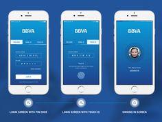 BBVA Banking App Login Screen