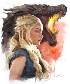 Mother of Dragons - Mauro Belfiore Daenerys Targaryen Art, Khaleesi, Deanerys Targaryen, Game Of Thrones Artwork, Chinese Dragon Tattoos, Mother Of Dragons, Geek Art, Photo Reference, Fantasy Girl